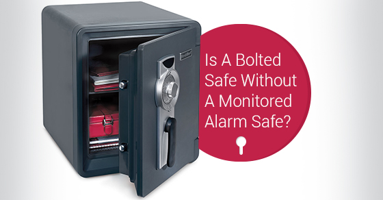 Is A Bolted Safe Without A Monitored Alarm Safe?
